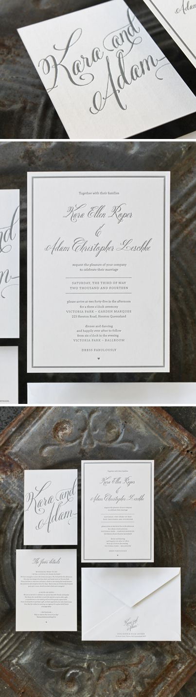 Kara and Adam's lovely #wedding #stationery designed and #letterpressed by Creative Emporium #creativeemporium #creatvemporium