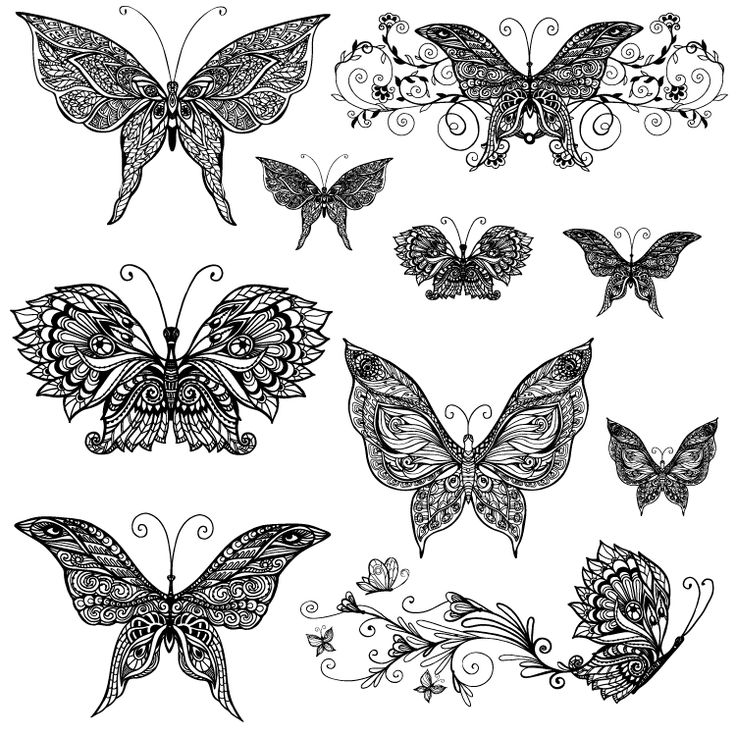 Butterfly Temporary Tattoos Set #807