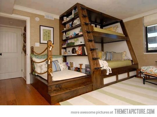 Awesome bunk bed design…