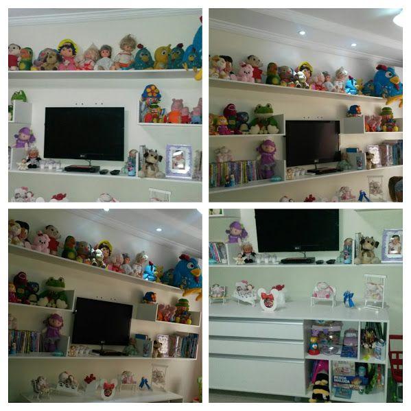 Projeto quarto infantil, prateleiras decorativas, armário com nichos, gavetas e rodízios.