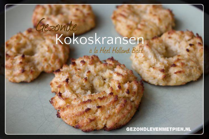 Maak nu zelf de kokoskransen van Heel Holland Bakt maar dan zonder de geraffineerde suiker, tarwevrij, glutenvrij en zuivelvrij. Gezond genieten!