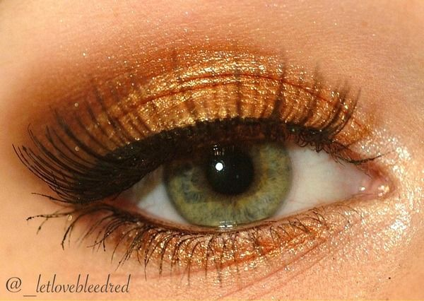 Gold & Brown would this work as well with brown eyes?