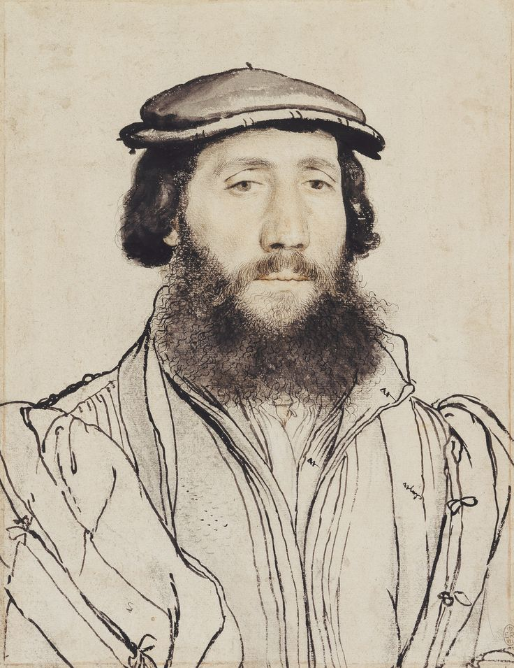 Hans Holbein the Younger, An unidentified man (ca. 1535, Royal Collection, London)