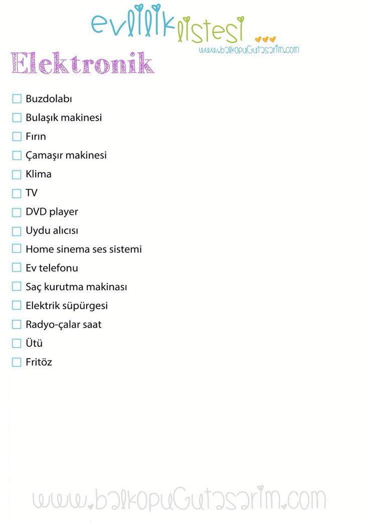 Elektronik ceyiz listesi