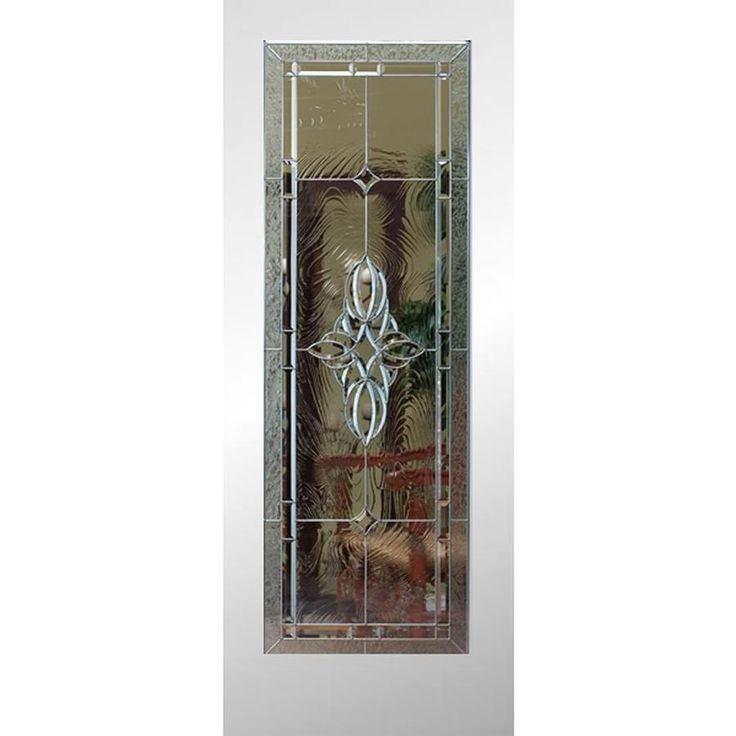Reliabilt White 1 Panel Solid Core Decorative Glass Wood Slab Door Common 24 In X 80 In Actual 24 In X 80 In Lowes Com Glass Doors Interior Prehung Doors Slab Door