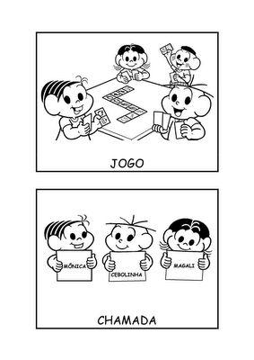 Fichas de Rotina - Jogos e Chamada   Pra Gente Miúda