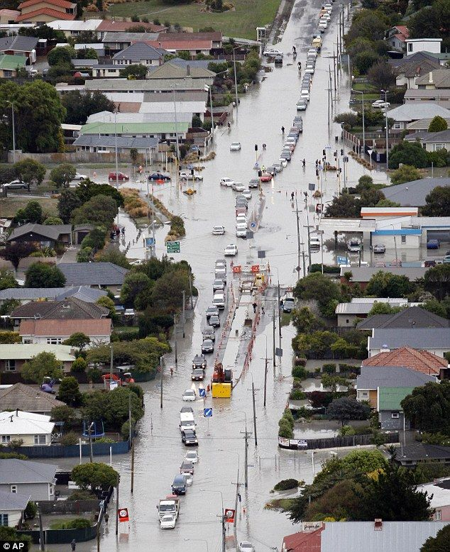 Liquefaction turned so many streets in the eastern suburbs to rivers of mud