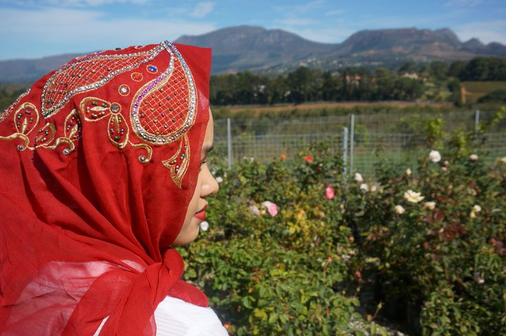Red Oriental Scarf