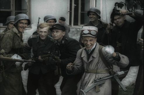 """""""Warsaw Uprising"""" is the world's first feature film made entirely from documentary materials. It tells the story of the Warsaw Uprising of 1944 through the eyes of two young reporters, witnesses to insurgent fighting. It uses authentic newsreels filmed in August of 1944."""