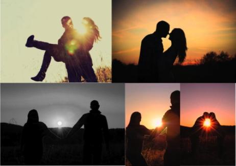 engagement photo ideas - sunset