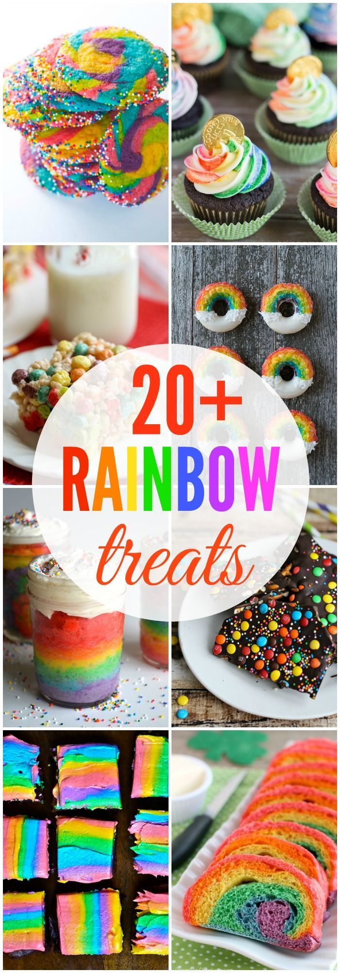 A great and colorful collection of Rainbow treat recipes perfect for parties or even St. Patrick's Day! | Lil' Luna