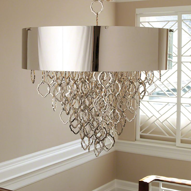 Global Views Chain Pendant Nickel Overall: X Shade: X Includes Decorative  Chain Oversized Item Holds Six