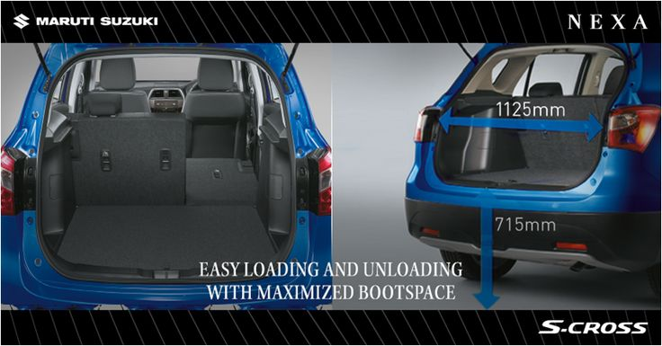 Maximised bootspace which can be used in diverse ways in the new S-Cross