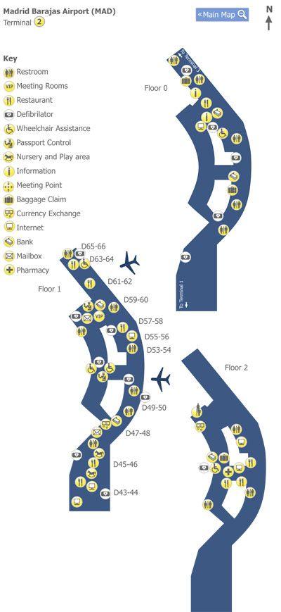 #Madrid Barajas Airport Terminal 2 Map