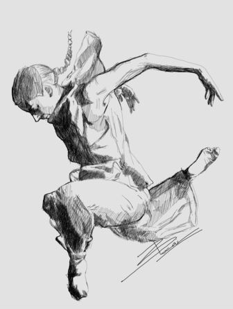 art, drawing, print dancer