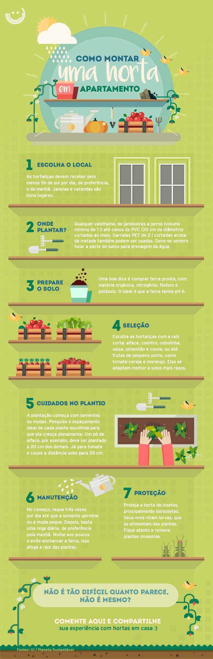 Mesmo com pouco espaço é possível cultivar uma horta em sua casa com alimentos fresquinhos. Clique aqui e veja como fazer a sua.                                                                                                                                                                                 Mais