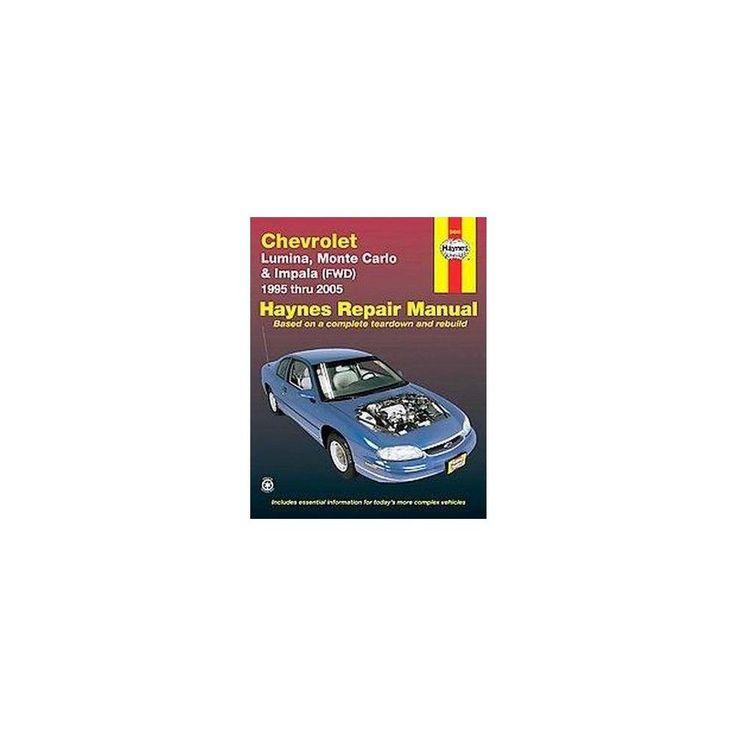 Chevrolet Lumina, Monte Carlo & Impala ( ( Haynes Automotive Repair Manual) (Paperback)