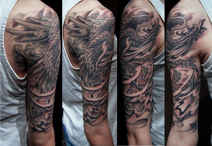 phoenix tattoo black and grey - Google Search