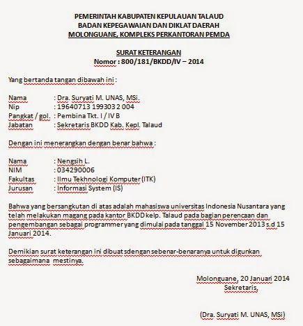 Surat Keterangan Magang Pemerintah Surat Apoteker
