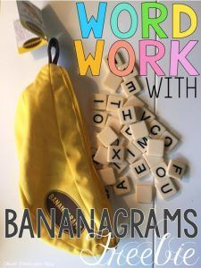 Do you play Bananagrams? Here's a fun idea for bringing this word tile game into your word work center!