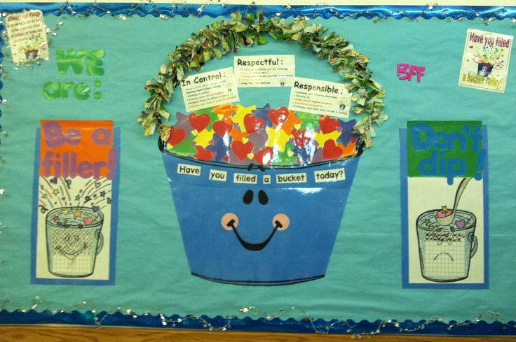 Decorate Classroom Walls ~ Bucket filler bulletin board from my classroom