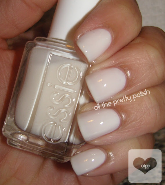 Essie's Marshmallow - [just bought this on eBay for super cheap. gonna try painting my whole nail instead of the tips when i get em done again]
