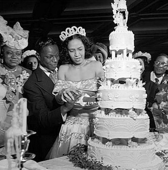 "On Easter Sunday 1948, recently divorced jazz pianist, crooner, and legend in the making, Nat ""King"" Cole married singer Maria Hawkins Ellington.  The Coles were married in Harlem's Abyssinian Baptist Church by Adam Clayton Powell, Jr."