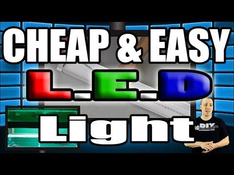 CHEAP and EASY LED aquarium light HOW TO - YouTube