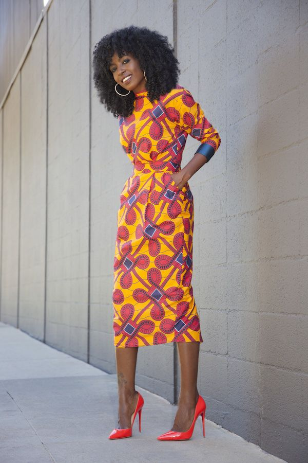 Style Pantry wearing Stella Jean Dress