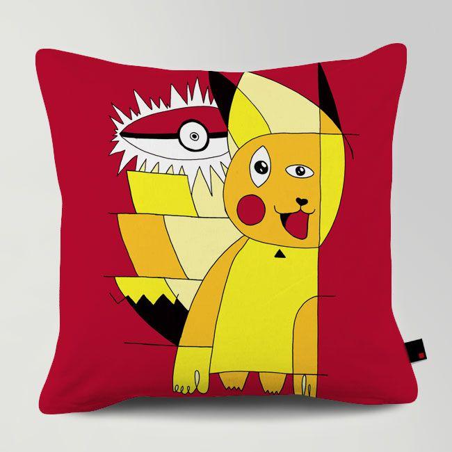 PIKASSO / Designed by Tobe Fonseca / Made by OneRevolt.com / #쿠션 #원리볼트 #인테리어 #홈데코 #피카츄 #피카소 #picasso #pikachu #cute #design #cushion