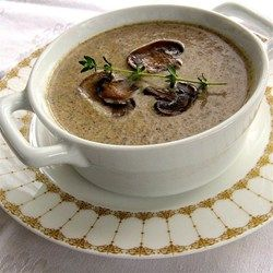 The secret to this deep rich soup is a long slow caramelization, the key to unlocking the mushroom's magic. This is just pure essence of mushroom.