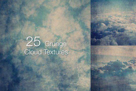 25 Grunge Cloud Textures by laurentzziu on @creativemarket