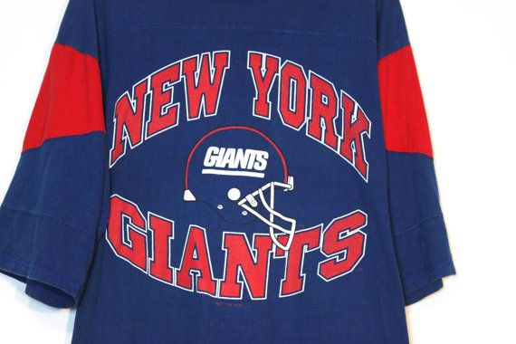New York NY Giants Football Crewneck Half Sleeve T Shirt Official NFL Apparel This is an AWESOME piece for any New York sports fan. You will for sure