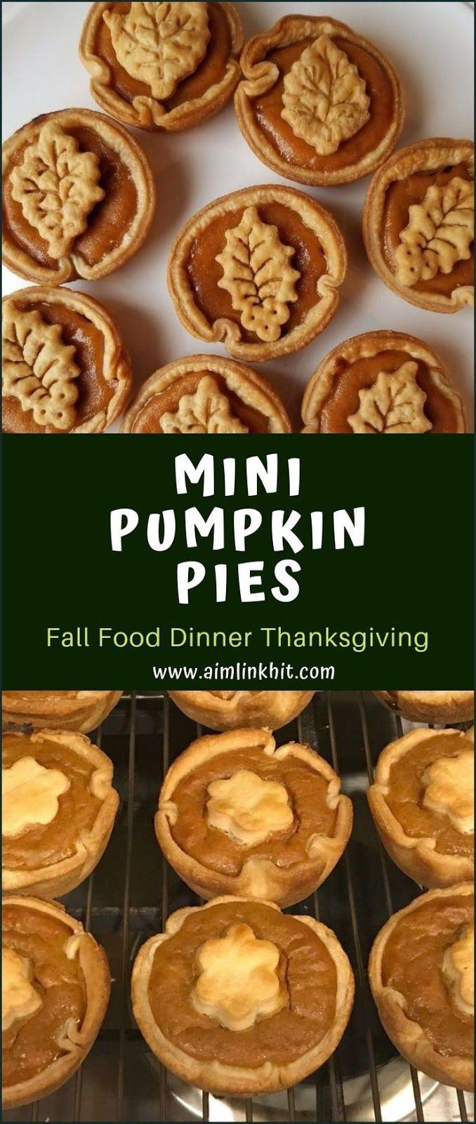 Mini Pumpkin Pies Fall Food Dinner Thanksgiving Mini Pumpkin Pies Fall Recipes Mini Pumpkin Pies Easy