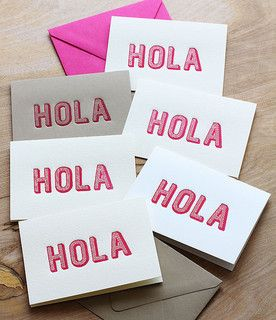 HOLA! by sideoats at @Studio_Calico