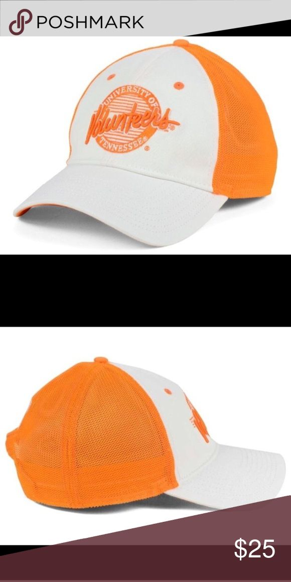 Tennessee Volunteers ncaa circle stretch hat From the college football opener to March Madness basketball playoffs you will look sharp in this Tennessee Volunteers NCAA Circle Stretch Cap The low-crown hat with a normal curved bill reps your favorite school two ways with a large elegant specialized name graphic on the front and a small school mascot on the back  Color: White/orange Departments:  Stretch Fitted Primary Logo:  Raised Embroidery Letter on Front Middle  Crown:  Low  Closure…