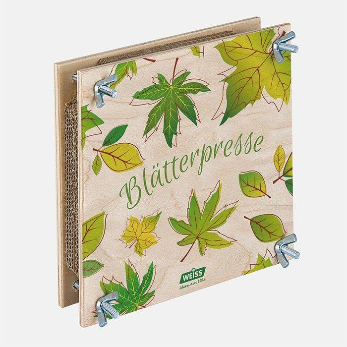 Blätterpresse für Kinder von Weiss Natur. Wunderschöne Blätterpresse mit nostalgischem Motiv, hergestellt in Deutschland. Das Holz stammt aus zertifiziert nachhaltiger Forstwirtschaft.