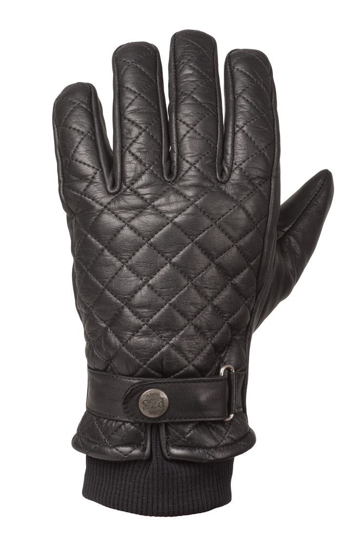 Motorcycle gloves kingston - Ride Sons Bullit Insulated Leather Glove Black Motorcycle