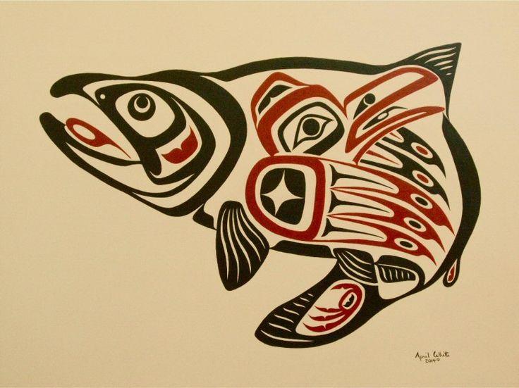 Haida Artist April White Wins Salmon Stamp Art Contest-First Artist of Aboriginal Descent to Win the Honour Voir la nouvelle (en anglais) : http://www.marketwired.com/press-release/haida-artist-april-white-wins-salmon-stamp-art-contest-1971780.htm