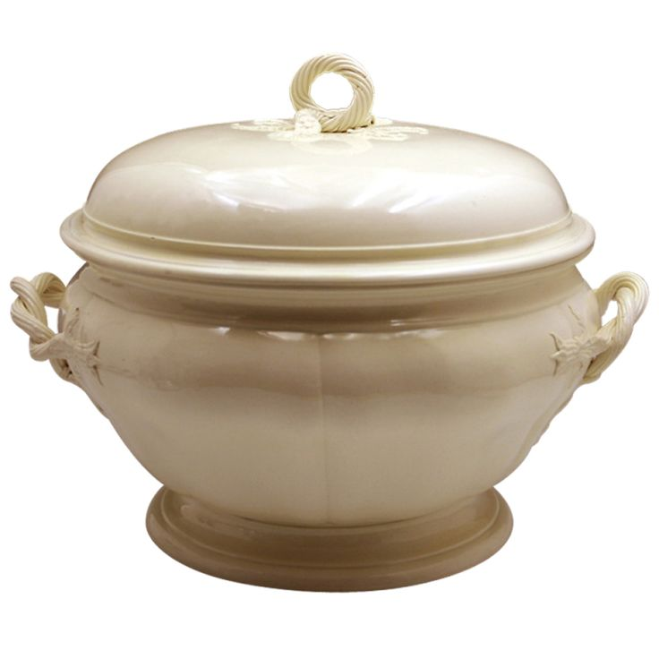 18th century plain creamware pottery tureen Leeds Pottery England circa 1780 | From a unique collection of antique and modern tureens at http://www.1stdibs.com/furniture/dining-entertaining/tureens/
