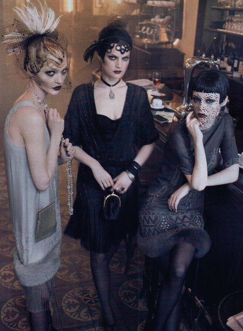 Sasha, Guinevere and Coco in 'Paris, Je T'Aime'  Photographer: Steven Meisel  Vogue US September 2007