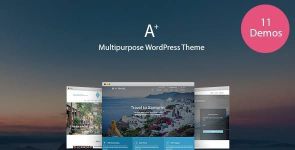 A+   Multipurpose WordPress Theme - New version is now available