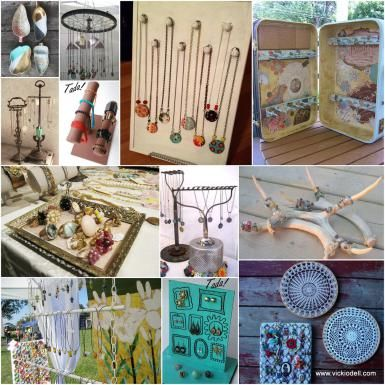 11 DIY Jewelry Displays for Spring Art and Craft Shows - vickiodell.com