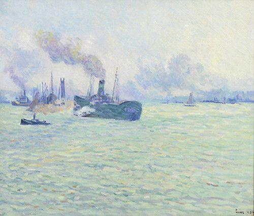 blastedheath: Maximilien Luce (French, 1858-1941), Le port de...
