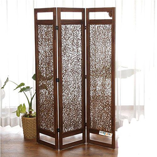 (Ref for folding screen, which can be folded out while dining; horizontal panels / sections can be narrower) Wooden Room Divider. #homedecor Home Decor #screens Screens, #foldingscreen in #wooden #woodendecor #woodenscreen @ @craftatoz com (India) via @sunjayjk