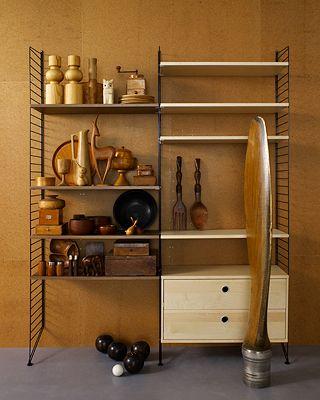 String shelf, designed by Nils Strinning 1949.