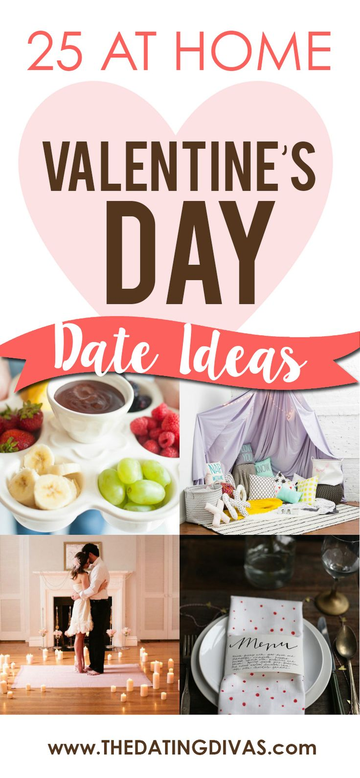 We'll be at home this Valentine's Day! Can't wait to use one of these Valentine's Day Dates this year! www.TheDatingDivas.com