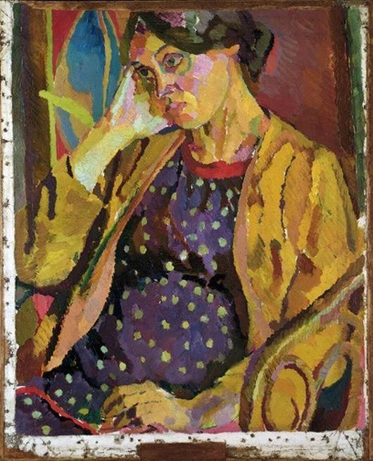 Vanessa Bell, Pregnant with the Artist's daughter, Angelica - Duncan Grant 1918,