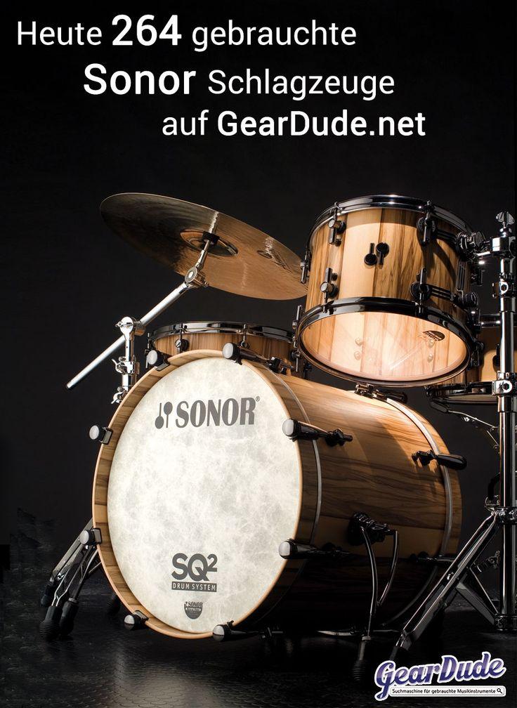 Über 260 gebrauchte Sonor Schlagzeuge findest Du auf GearDude.net - Die Suchmaschine für gebrauchte Drums und Percussion