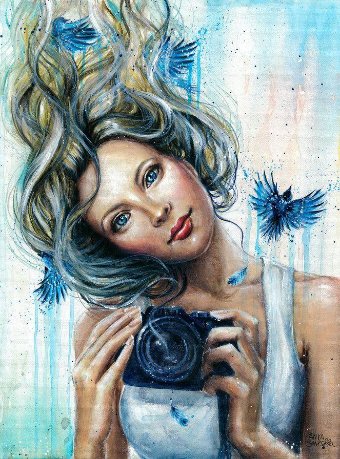 Рисованные картинки женщин на аватарку, открытки что